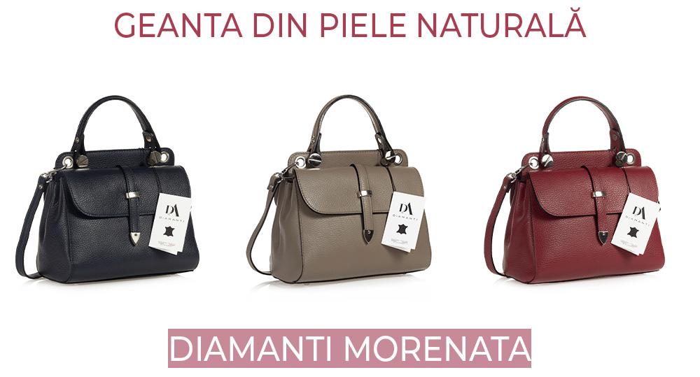 geanta din piele naturala DiAmanti Morenata