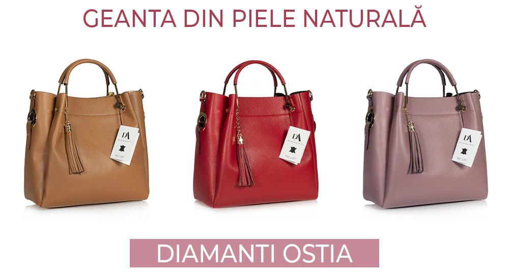 geanta din piele naturala Diamanti Ostia