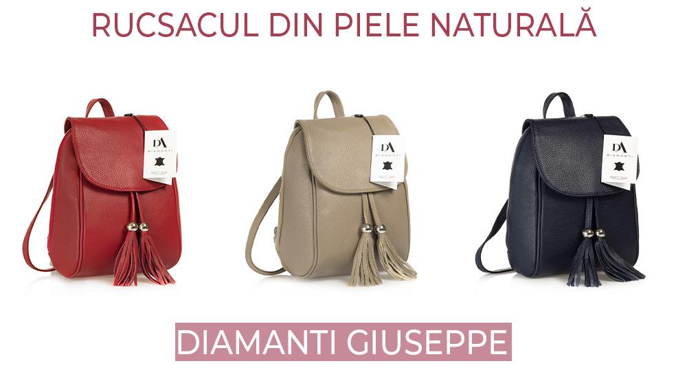 Rucsacul din piele naturala DiAmanti Giuseppe