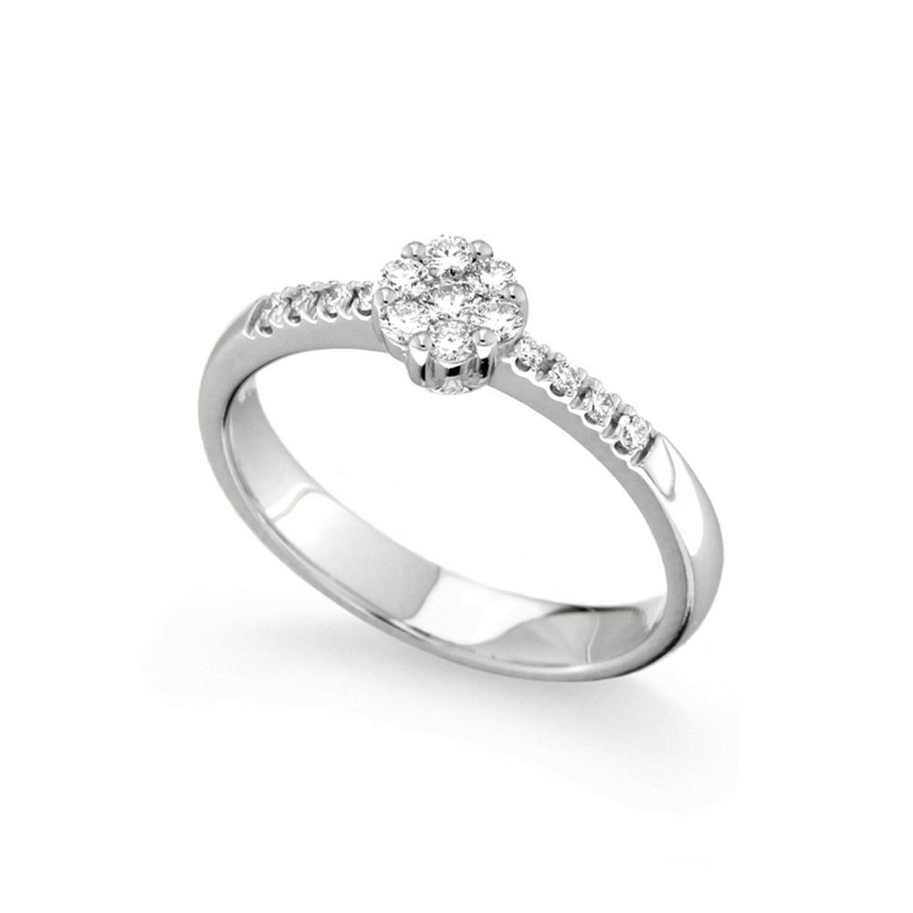 Inel de logodna din aur alb 18K cu diamante 0,21 ct, model Orsini 2479G-M