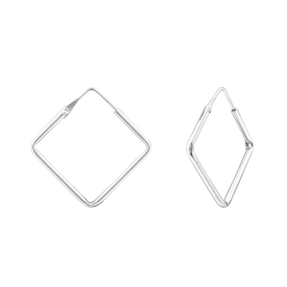 Cercei geometrici din argint model DiAmanti DIA34863