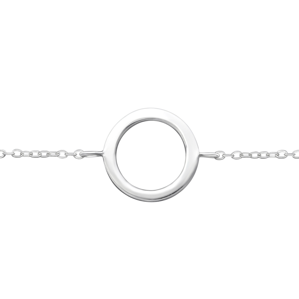 Bratara din argint cu pandantiv cerc model DiAmanti DIA34945
