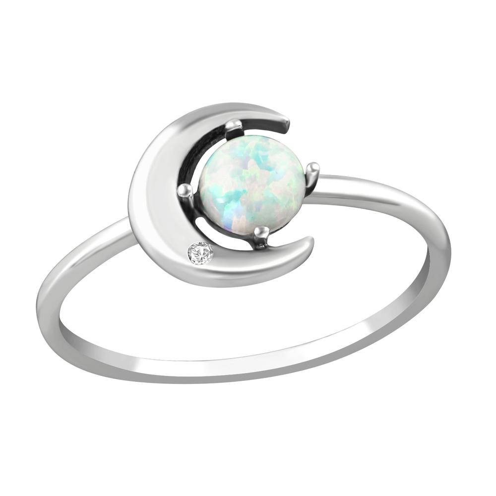 Inel din argint cu luna si Opal model DiAmanti DIA36873
