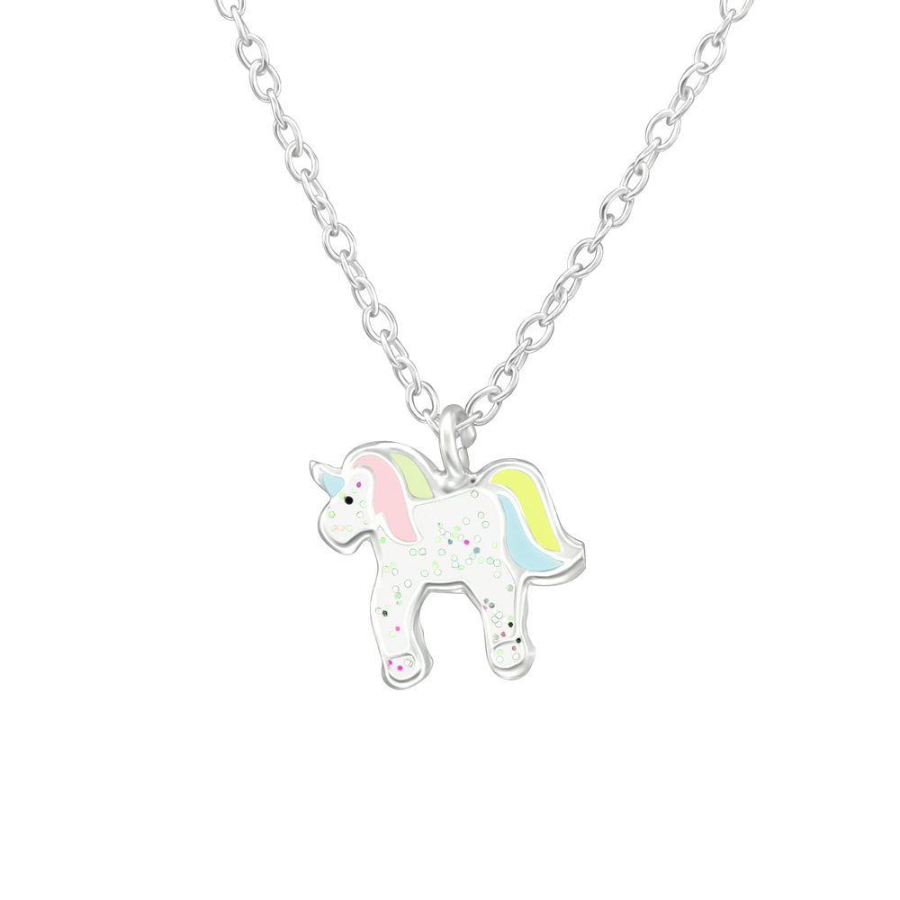 Lantisor din argint cu pandantiv unicorn model DiAmanti DIA39083