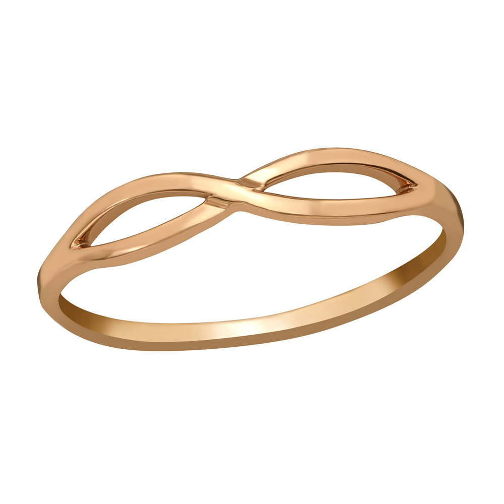 Inel din argint placat cu aur roz 14K model infinity DiAmanti DIA39219