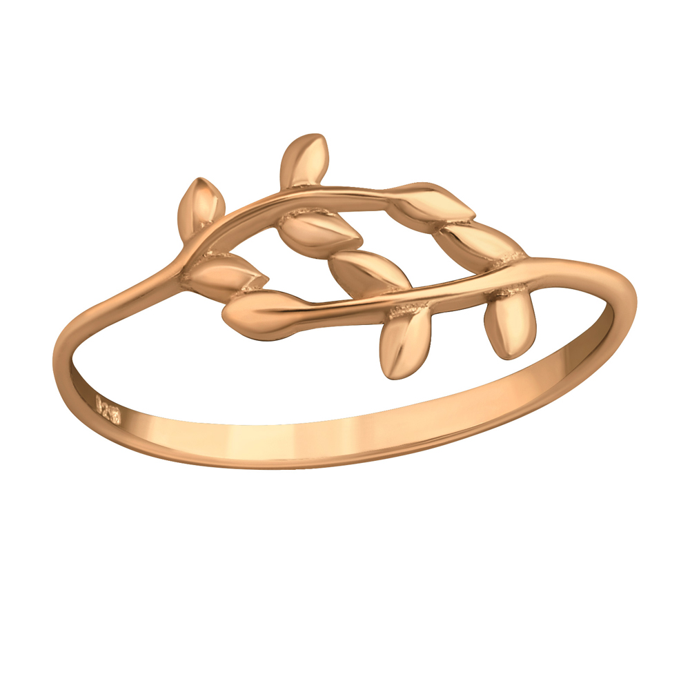 Inel din argint placat cu aur roz 14K model ramuri DiAmanti DIA39662
