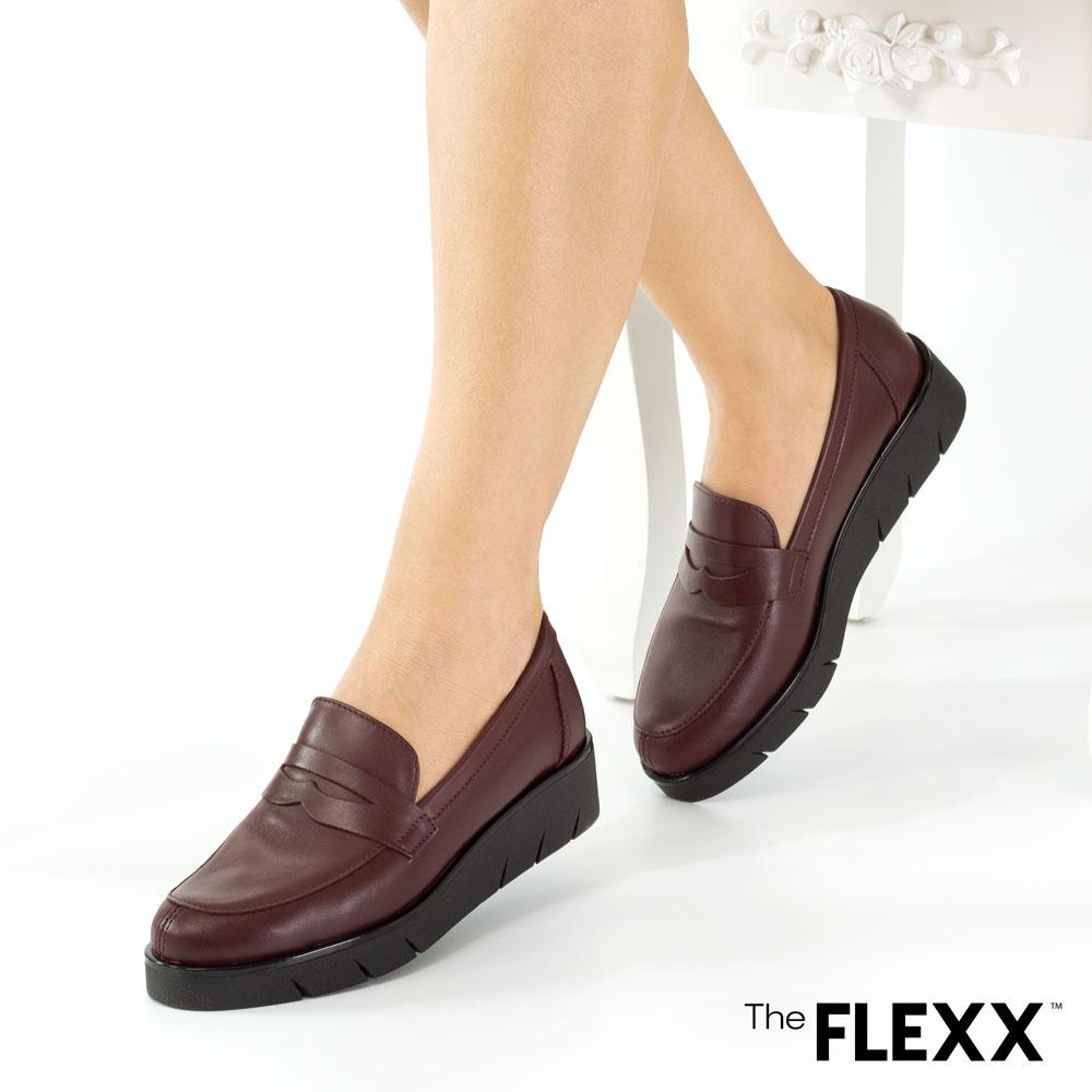 Pantofi dama The Flexx din piele naturala Ariadne bordo