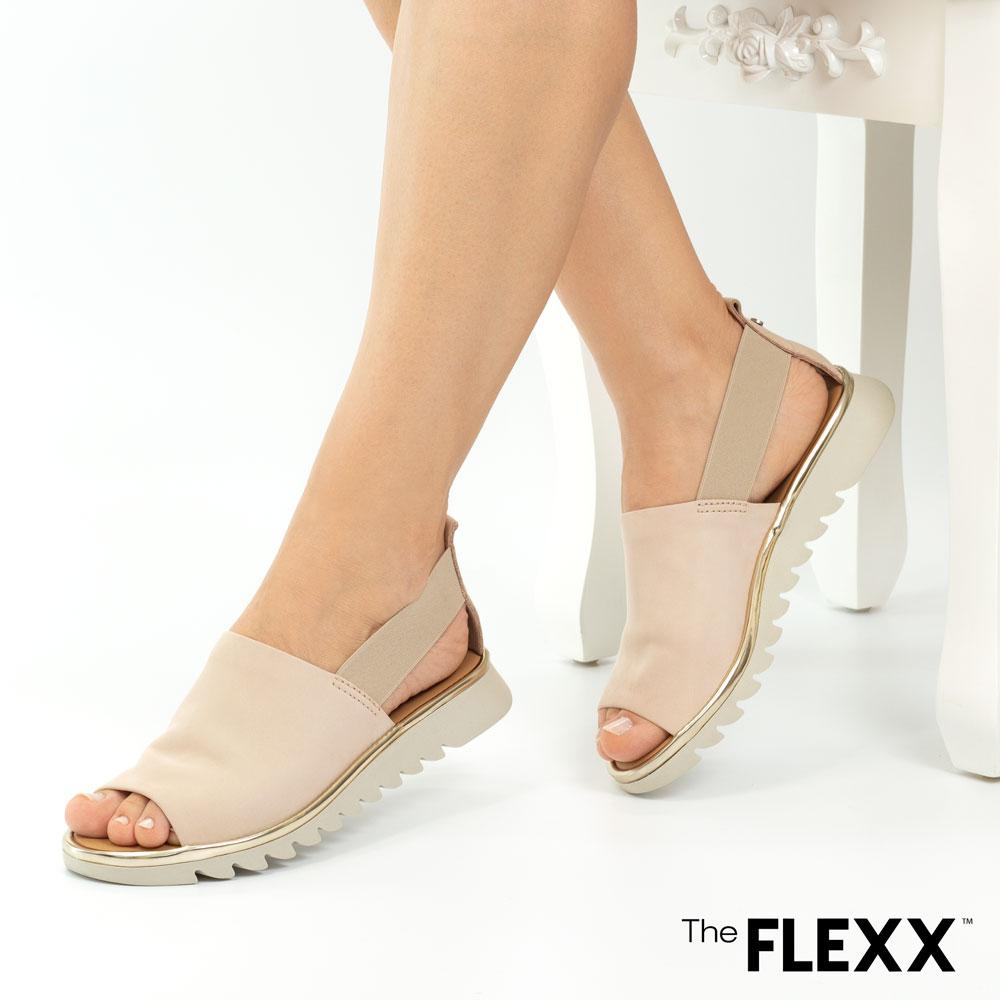 Sandale dama The Flexx din piele naturala Wat is Wav bej