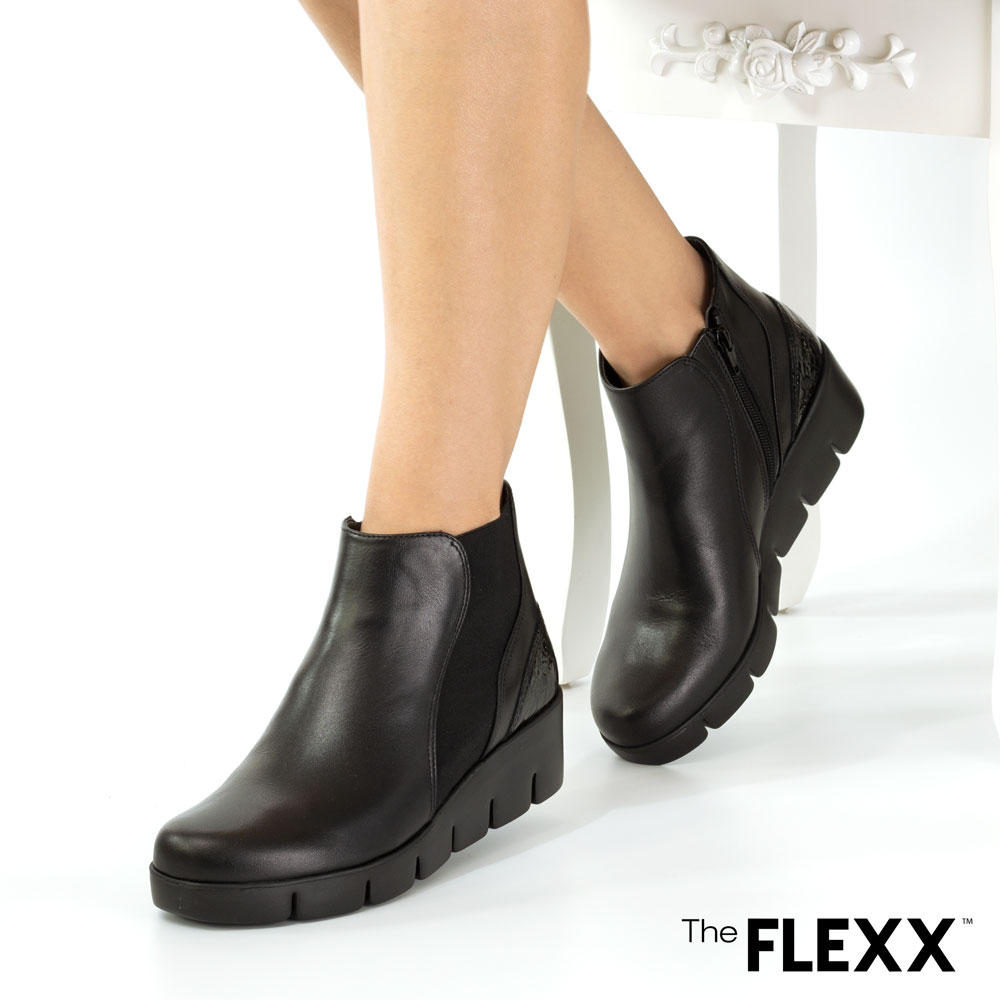 Ghete dama The Flexx din piele naturala Allie negru