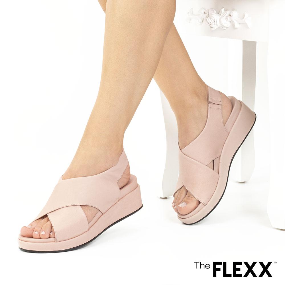 Sandale dama The Flexx din piele naturala Belle rose nude