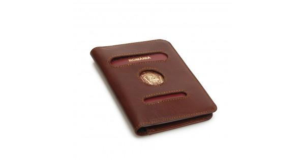new arrival 2a91c 5c05c Coperta pasaport din piele naturala DiAmanti Belmondo Marrone 8120