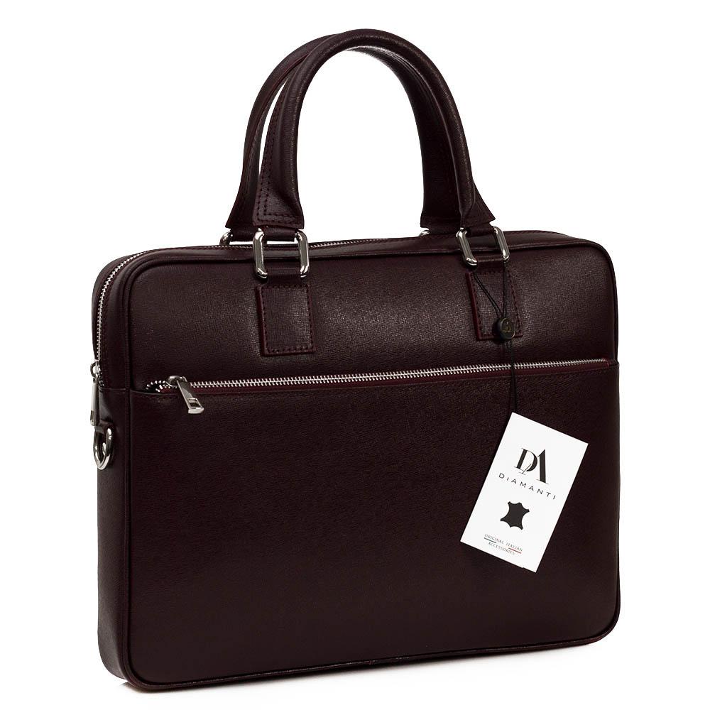 """Geanta office pentru laptop 15"""" si documente din piele naturala safiano Tivoli Bordo"""